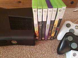 Xbox 360 Slim 4gb Console with 2 Controllers And Games