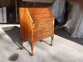 Small Mahogany Antique style Bureau Writing Desk