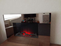 mirror electric wall hanging fire