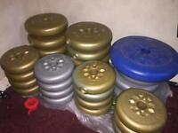 Loose gym barbell weights. (No bars) collection only