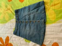 Girls Denim skirt 12 years