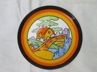 Wedgewood Clarice Cliff Orange Roof Cottage reproduction plate