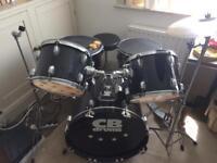 CB Drums Starter Kit Black Full. **** Needs Hihat Cymbals ****