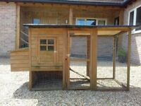 Small chicken shed with run
