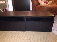 Tv cabinet and cabinet black from ikea