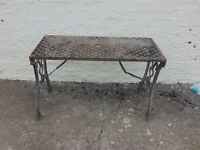Cast Iron Table with Lattice Top