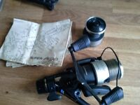 Shimano super aero 3000m with spare spool and instruction leaflet