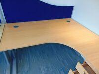 L-Shape Desk Corner Office Desk with 3 drawer Cabinet 1600MM (W) 1200MM