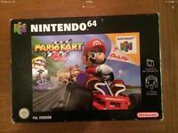 SOLD 15/2/17Nintendo N64 Mario kart boxed