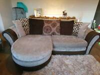 DFS Mink Pillow Back Sofa Lounger, DELIVERY AVAILABLE