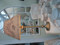 LARGE LAURA ASHLEY TABLE LAMP AND SHADE