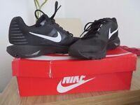 Pair of NIKE Trainers size UK 5 Euro 38.5. black with white soles