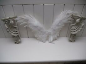 Pair of Shabby Chic Ornate Wall Sconces.
