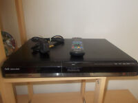 USED PANASONIC DMR-EX87 DVD PLAYER 250GB FREEVIEW HDD RECORDER + REMOTE