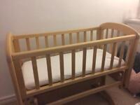 Baby swinging crib from John Lewis
