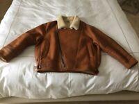"""Superb Mens Large """"SNOWGOOSE"""" Sheepskin jacket"""