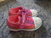 Light up girls trainers