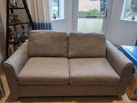 Nearly new 2 seater Carnaby Sofa-bed, light grey