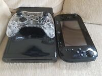 Nitendo Wii U with 2 controllers/leads/games