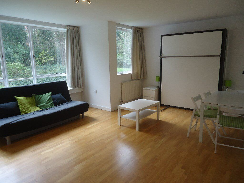 Stunning 2nd floor(with lift) studio flat in smart apartment block. There is a spacious studio room
