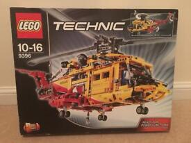 NEW Technic Lego Rescue Helicopter #9396 Never used.