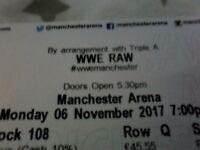 WWE RAW wrestling tickets