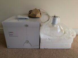 B&Q Clear Glass Pendant Ceiling Light – Brand New in Box