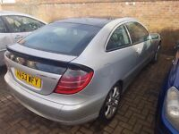 CHEAP 2003 53 PLATE MERCEDES COUPE C180 WITH FULL LEATHERS ONLY £700