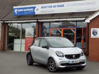 SMART FORFOUR 1.0 PRIME PREMIUM 5dr ** Sat Nav + Leather + Pan Roof ** (silver) 2016