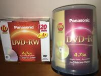 BLANK PANASONIC DVDs - 5xRE-Writable & Approx 90xRecordable. Unused. Best there is - Taiyo Yuden