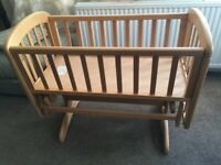 John Lewis Gliding Crib for newborn. Collection only from Macclesfield area.