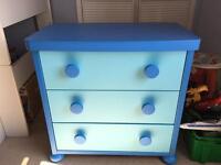 IKEA child's blue chest drawers mammut