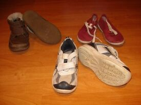 Size 8 infant bundle of 3 pairs of boys shoes purchase as bundle or separately