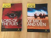 York Notes textbooks English (very good condition)