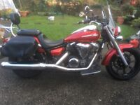 Yamaha Midnight Star XVS 950cc Tourer Motorbike. Excellent Condition. Yamaha accessories included.