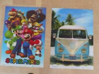 3D Posters for child or teenager's bedroom, snug or playroom.