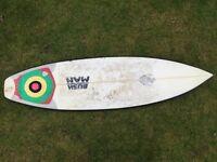 5'10 Jeff bushman shortboard surfboard