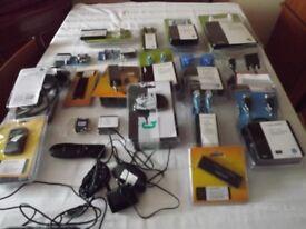 Assorted Advent cables, adaptors, USB ports ( 28 pieces )