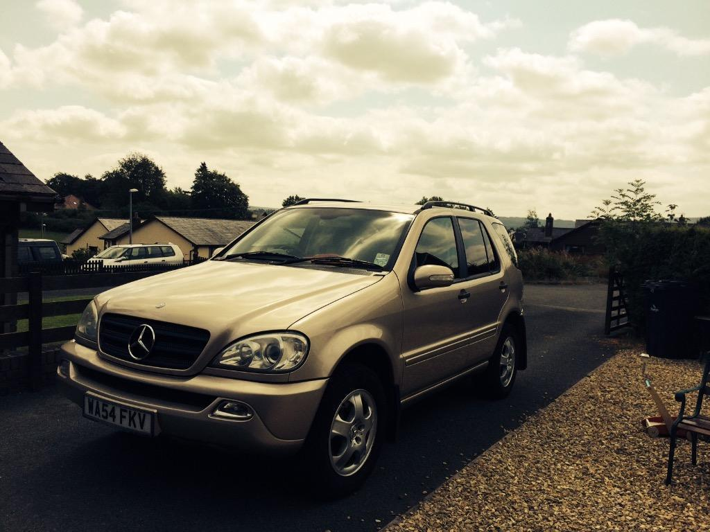 mercedes benz ml 3 7 petrol auto 2004 champagne colour