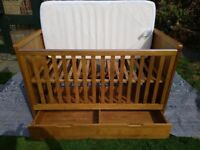 Solid Oak Cot/Bed