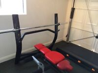 Techno gym Olympic bench press with 7ft Olympic bar