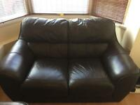 3 seater and 2 seater leather sofa
