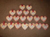 Personalised kitchen heart plaque brand new £3 each