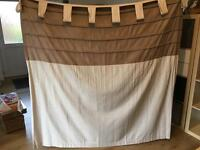Pair of brown/cream curtains
