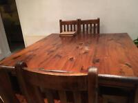 8 Seater 5ft x 5ft Square Dining Table & Chairs
