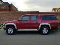 2003/03 Toyota Hilux Double Cab VX 270 D4D + VX MODEL + 2.5 + REAR CANOPY + NO VAT + NEW SHAPE +