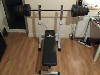 Bench Press and Barbell +70kg of weights