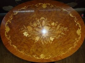 SIDE TABLE FROM SORRENTO - BEAUTIFUL ITALIAN INLAID MARQUETRY