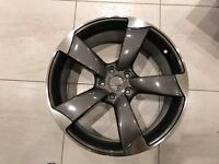 """NEW 18"""" inch Audi Rotor Alloy Wheels Grey A3 A4 A5 A6 RS3 RS4 RS5 RS6 Edition S5 S6 S3 S4 2017 3h8l"""