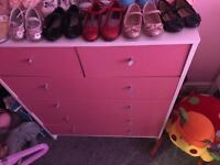 5 pairs of infant dolly shoes